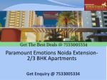 paramount emotions noida extension 2 3 bhk apartments