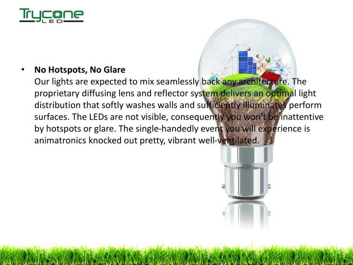 No Hotspots, No Glare
