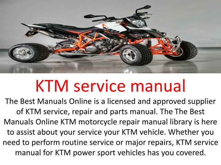 KTM service manual