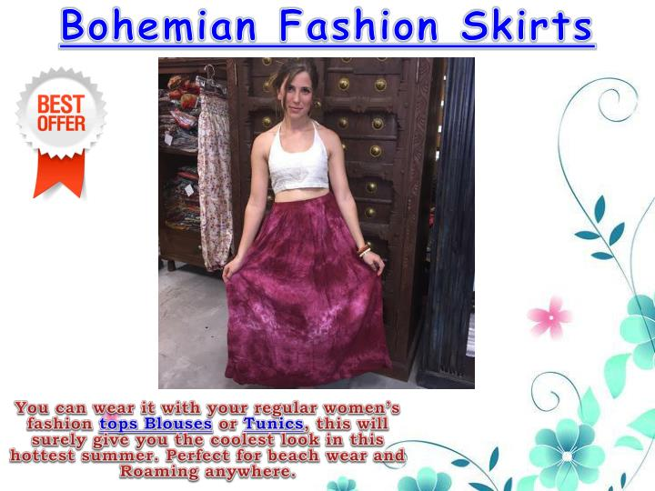 Bohemian Fashion Skirts