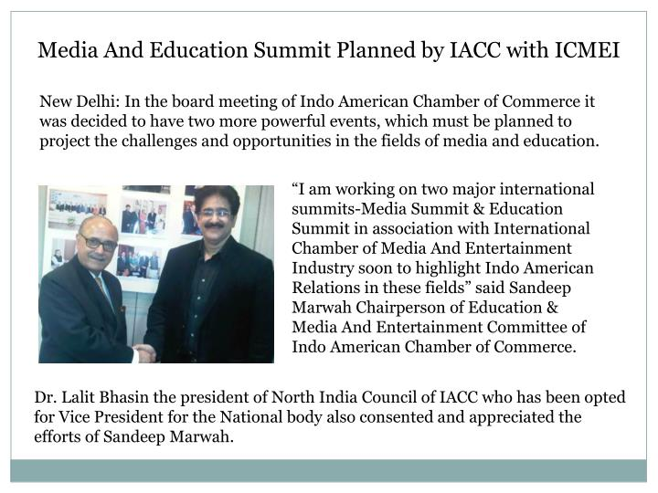 Media And Education Summit Planned by IACC with ICMEI