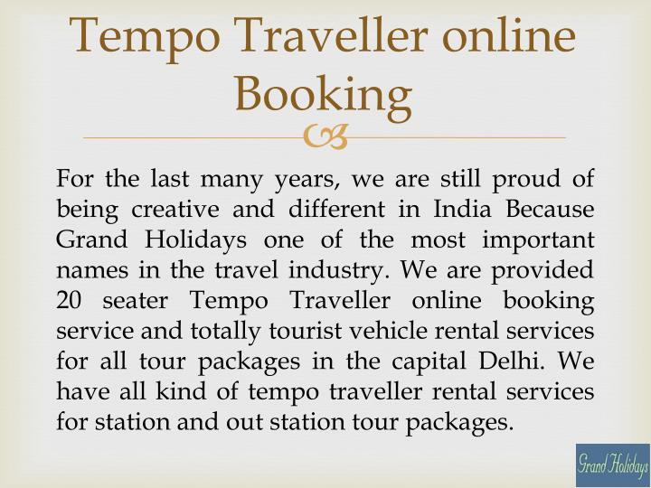 Tempo Traveller online Booking