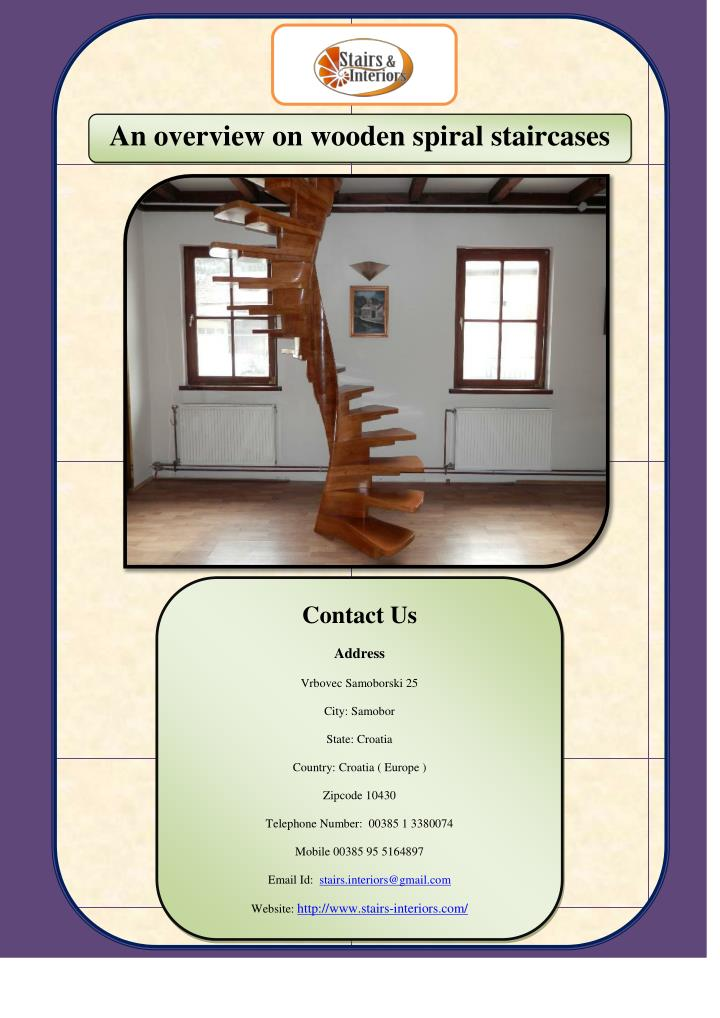 An overview on wooden spiral staircases
