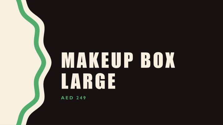 Makeup box large