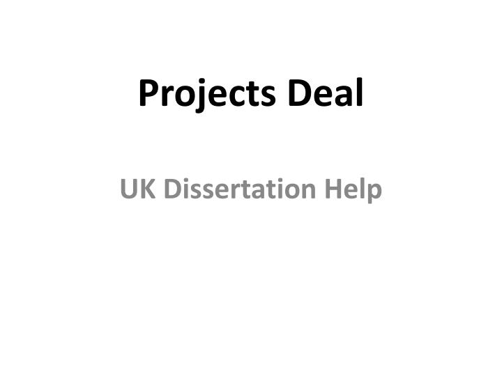 projects deal n.