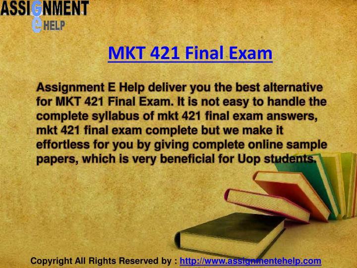 mkt 421 final exam
