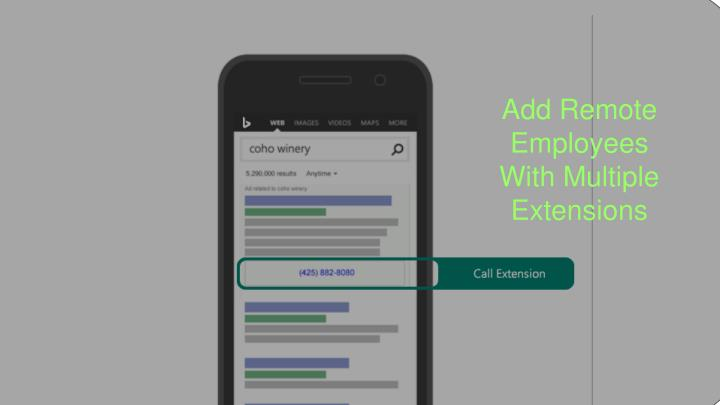 Add Remote Employees With Multiple Extensions