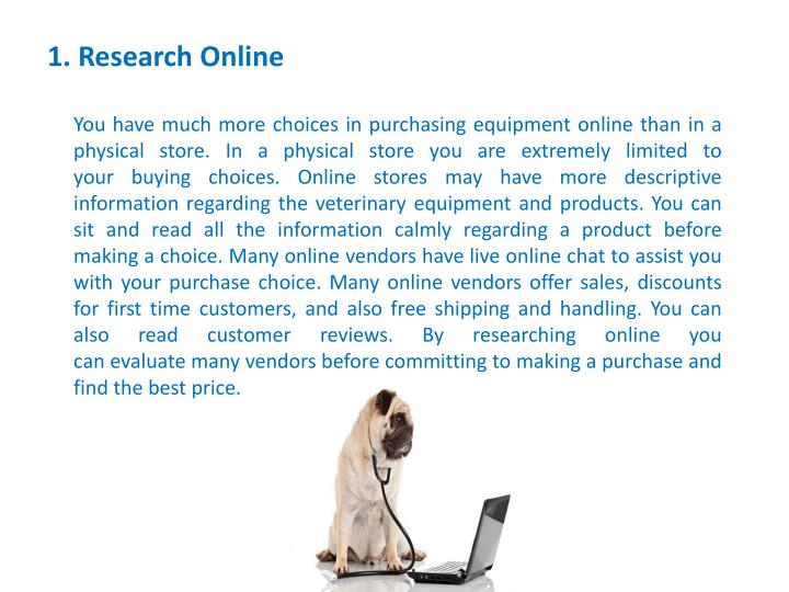 1. Research Online