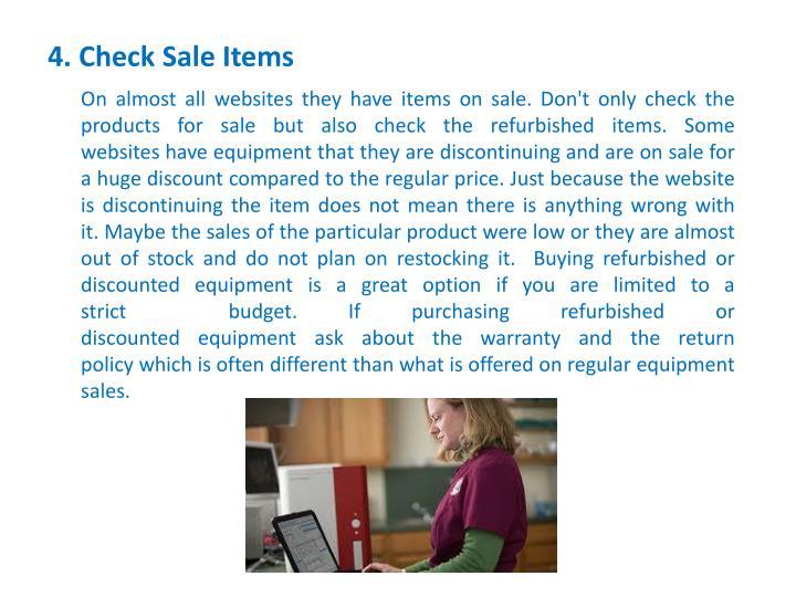 4. Check Sale Items