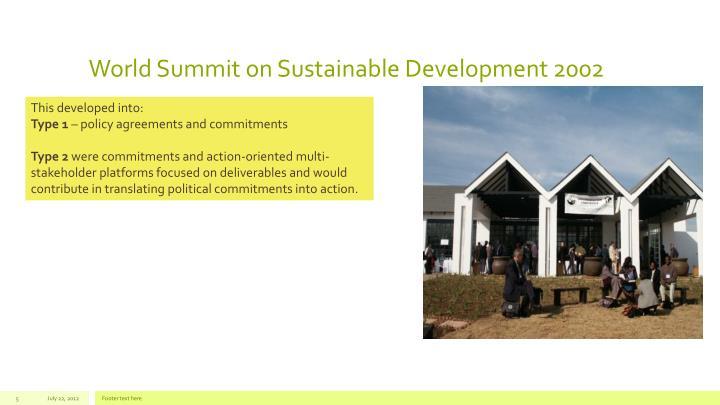 World Summit on Sustainable Development 2002