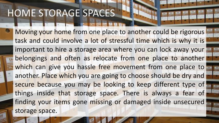 HOME STORAGE SPACES