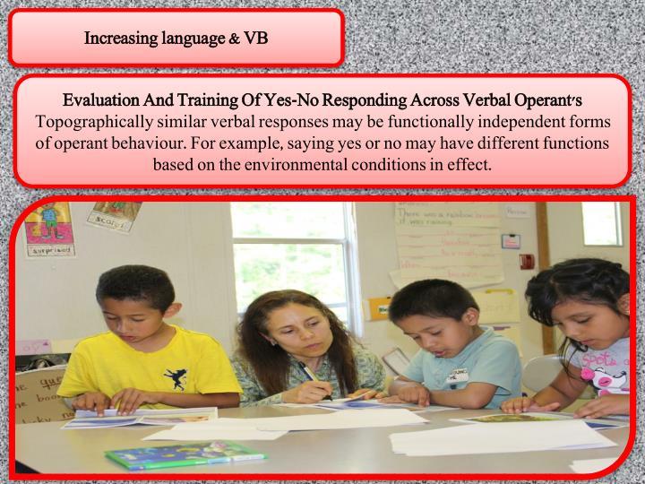 Increasing language & VB