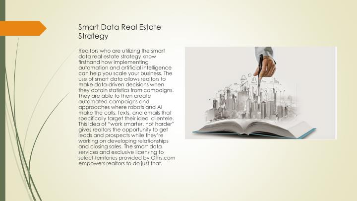 Smart data real e state strategy