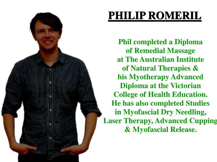 PHILIP ROMERIL