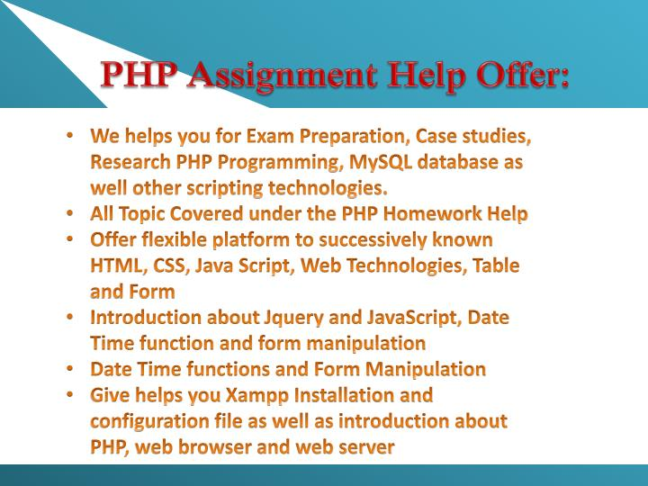 PHP Assignment Help Offer: