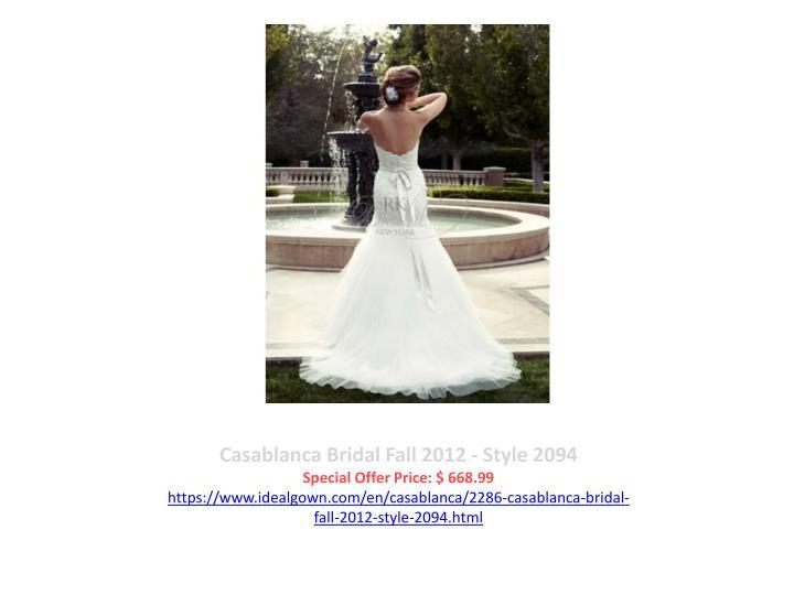 Casablanca Bridal Fall 2012 - Style 2094