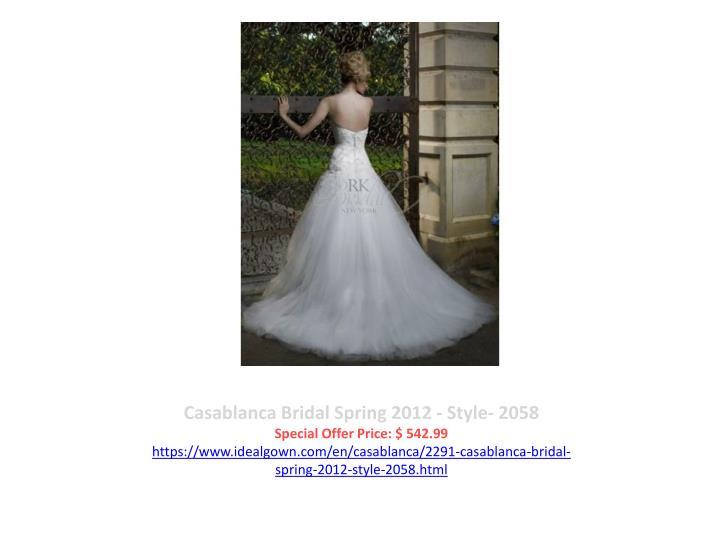 Casablanca Bridal Spring 2012 - Style- 2058