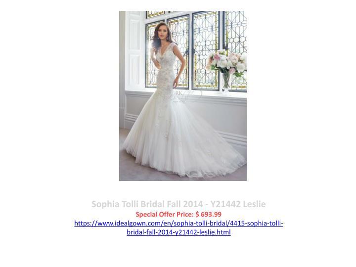 Sophia Tolli Bridal Fall 2014 - Y21442 Leslie