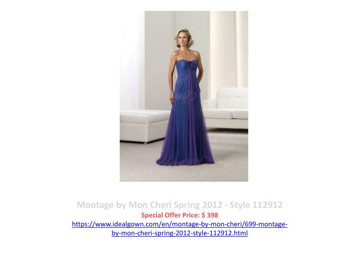 Montage by Mon Cheri Spring 2012 - Style 112912