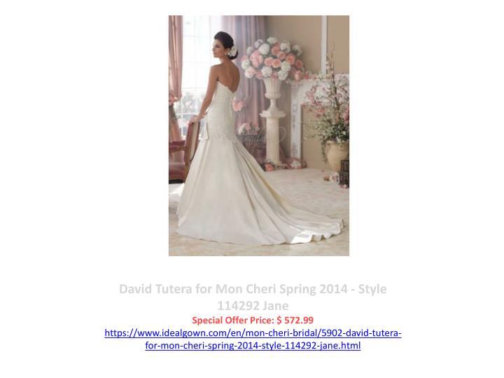 David Tutera for Mon Cheri Spring 2014 - Style 114292 Jane