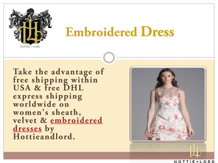 embroidered dress n.