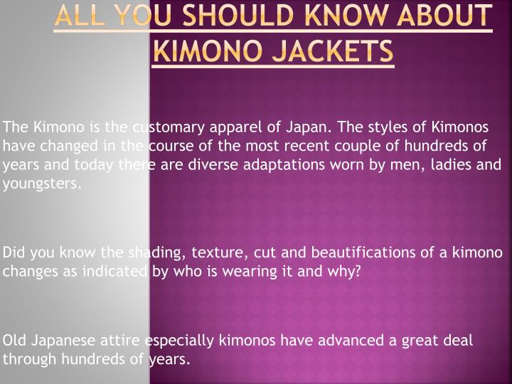 All you should know about kimono jackets