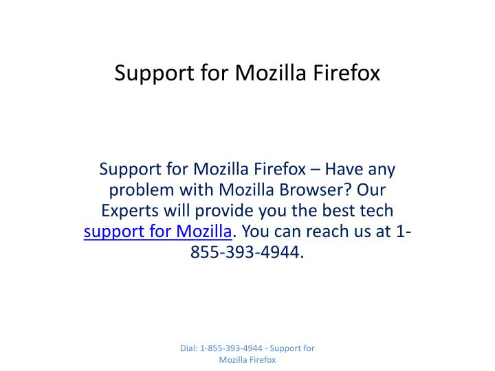 support for mozilla firefox