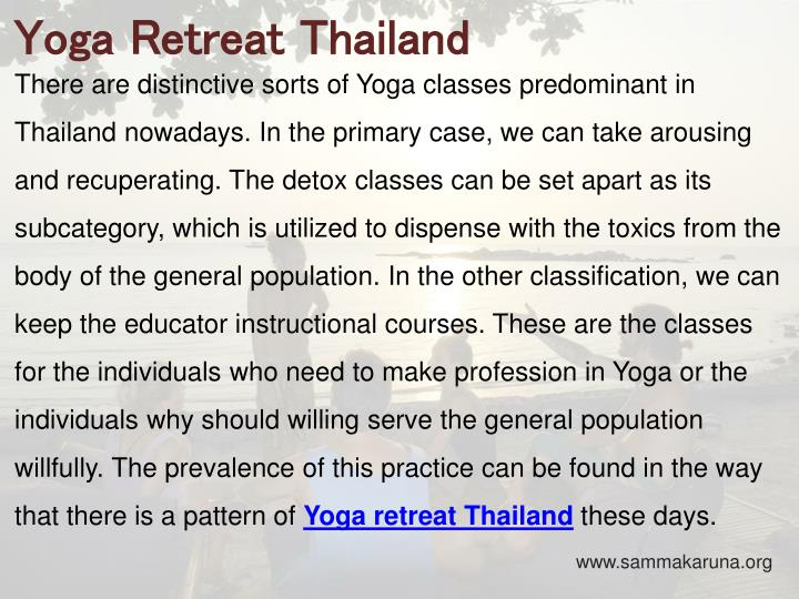 Yoga Retreat Thailand