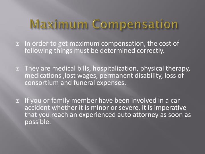 Maximum Compensation