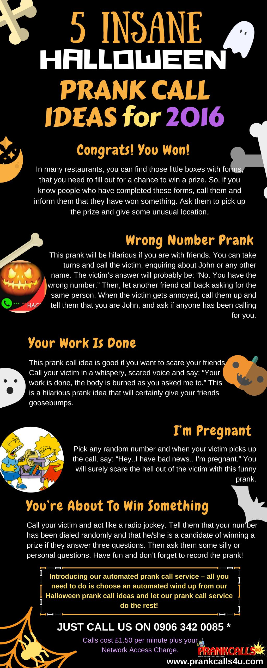 ppt - prank calls 4 u - hilarious halloween prank call ideas
