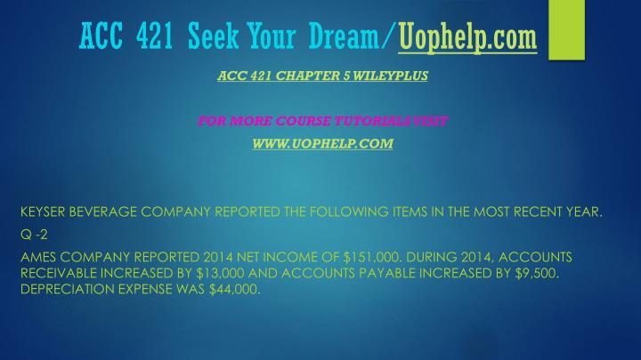 Acc 421 seek your dream uophelp com1