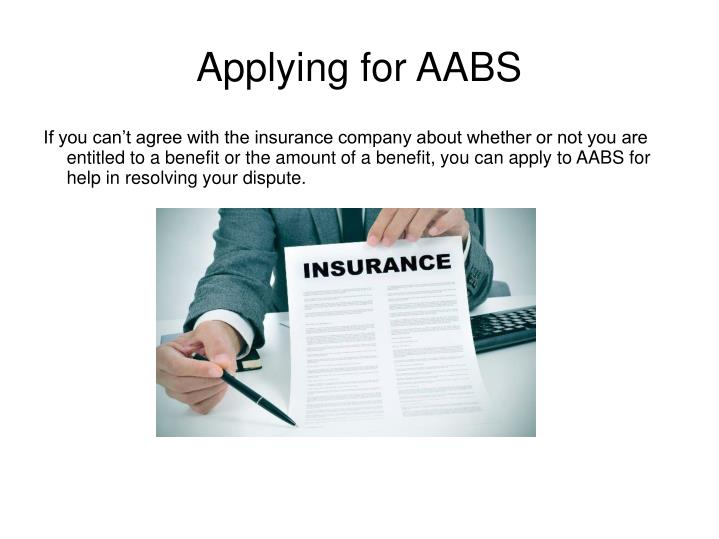 Applying for AABS
