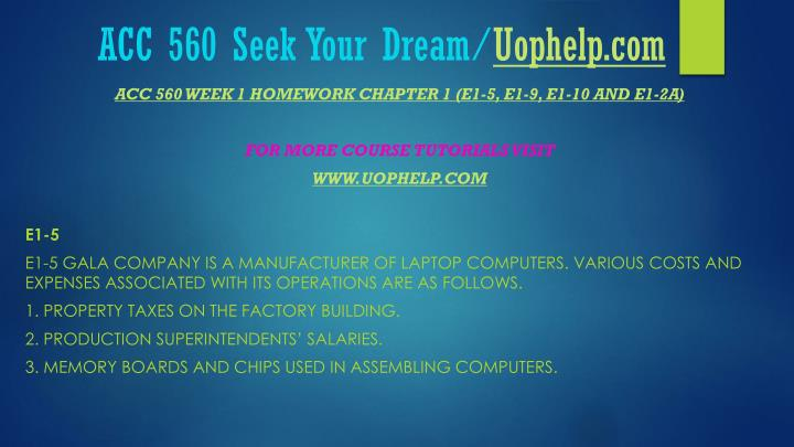 Acc 560 seek your dream uophelp com1