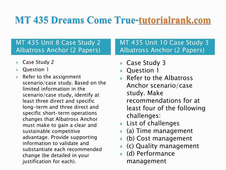 mt435 albatross anchor case study