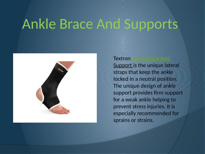 Ankle Brace And Supports