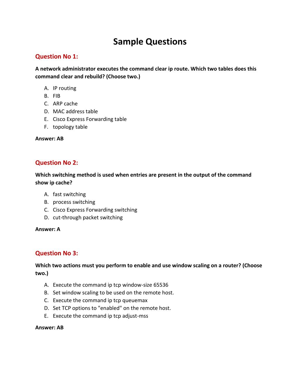 PPT - Cisco 300-101 Practice Exam Question Answer PowerPoint