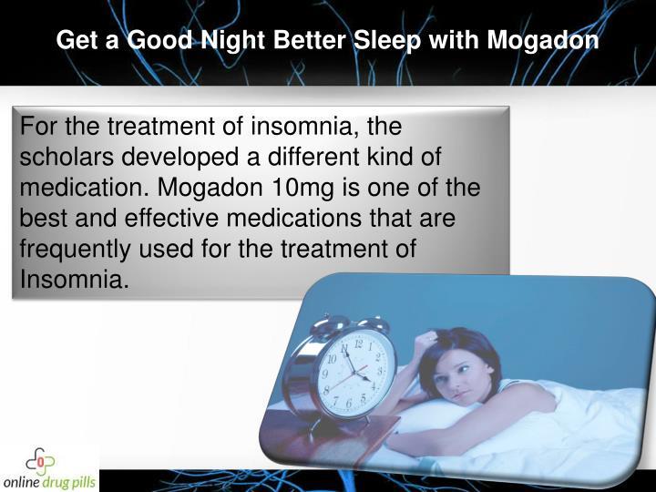 Get a Good Night Better Sleep with Mogadon