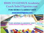 bshs 375 genius academic coach bshs375genius com1