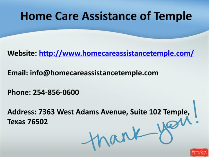 Home Care Assistance of Temple