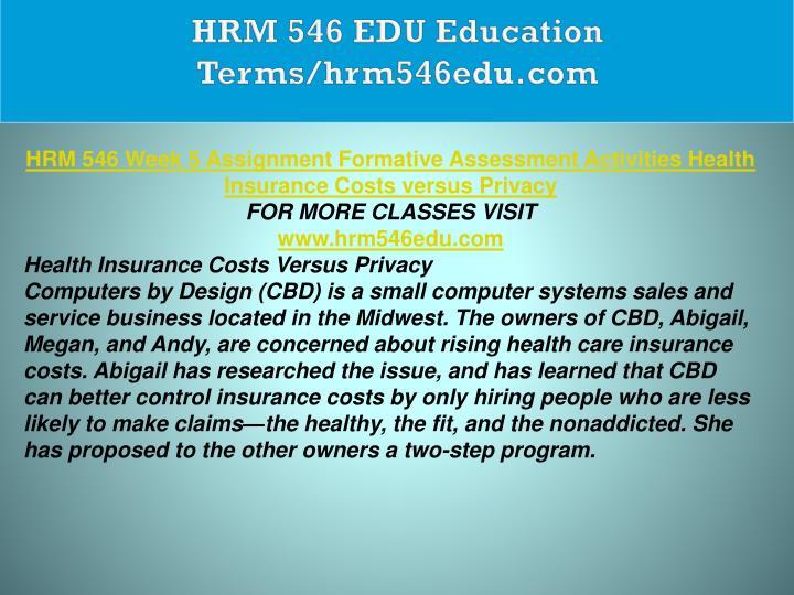 HRM 546 EDU Education Terms/hrm546edu.com