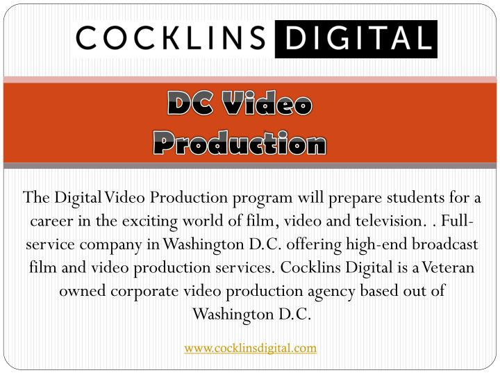 The Digital Video Production program will prepare students for a