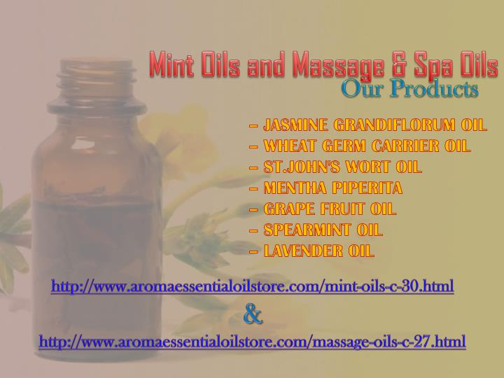 Mint Oils and Massage & Spa Oils