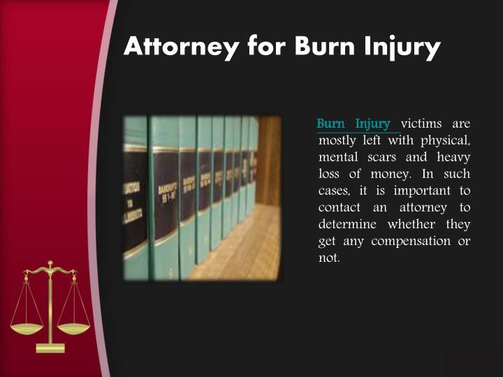 Attorney for Burn Injury