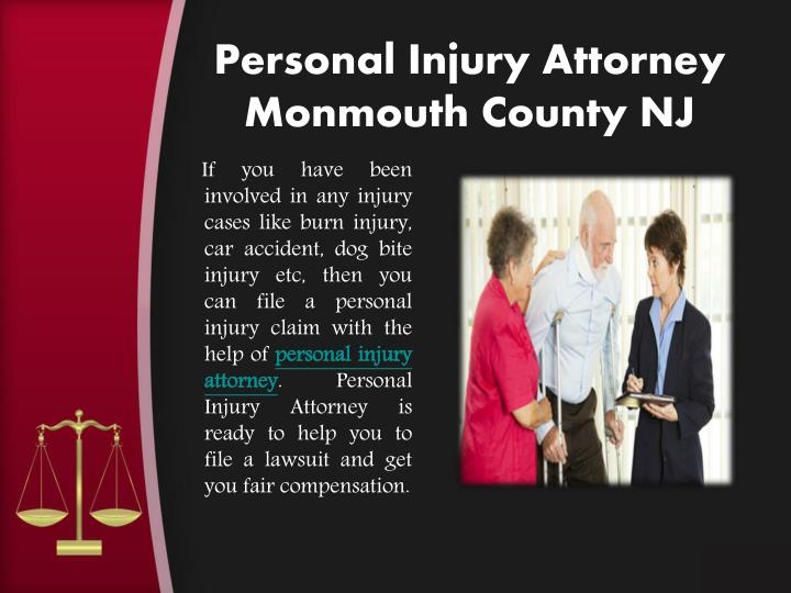 Personal injury attorney monmouth county nj