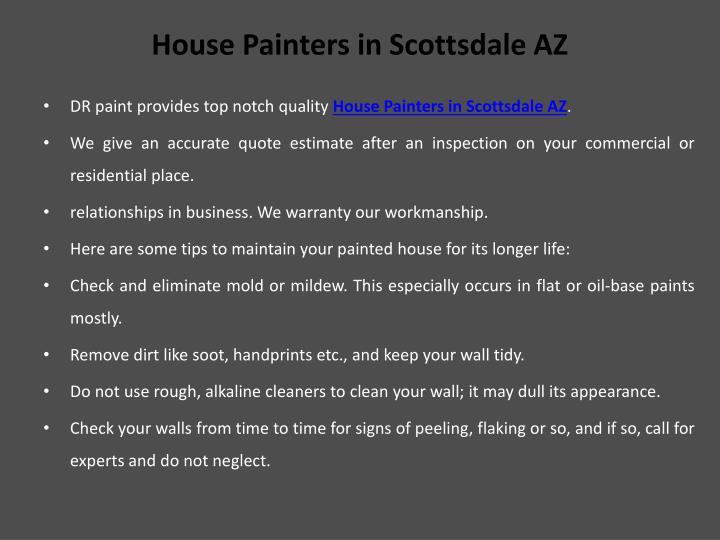 House Painters in Scottsdale AZ