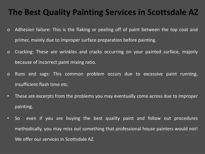 T he b est q uality p ainting services in scottsdale az