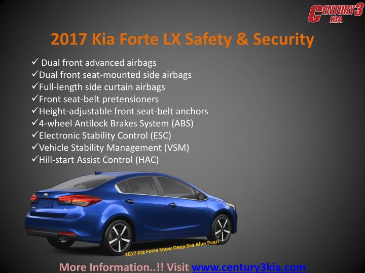2017 Kia Forte LX Safety & Security