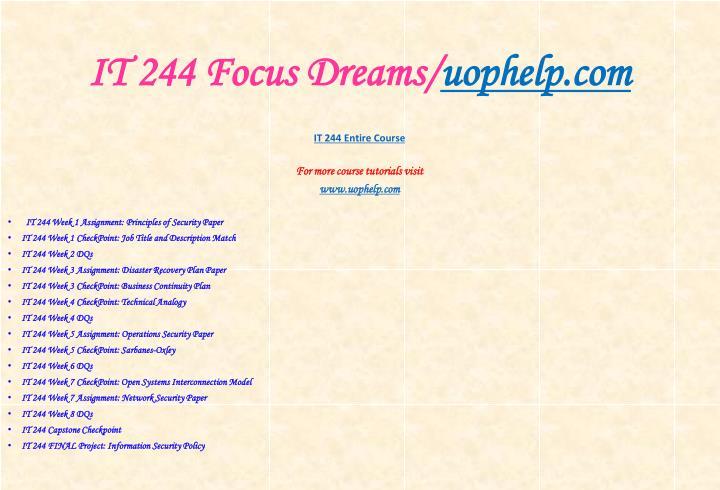 It 244 focus dreams uophelp com1