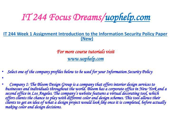 It 244 focus dreams uophelp com2