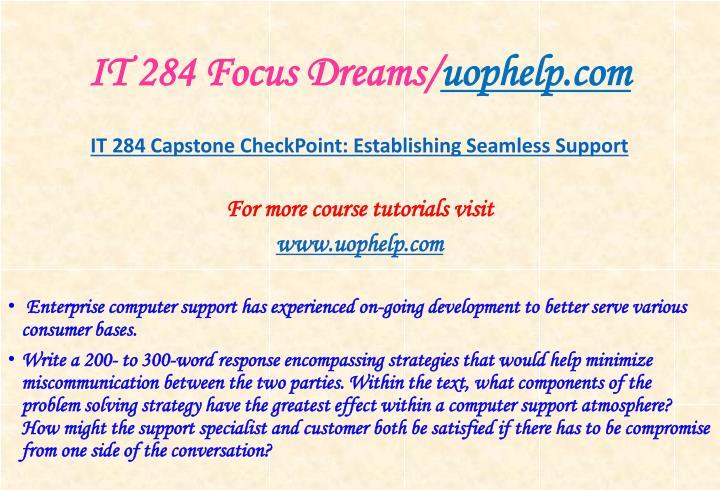 It 284 focus dreams uophelp com1